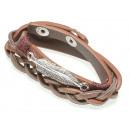 wholesale Artificial Flowers: Wrap bracelet feather, brown