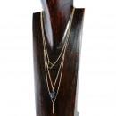 grossiste Pendantif: Collier avec pendentif de pierre, noir or