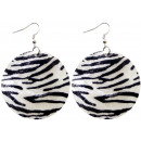 wholesale Earrings: Earrings couple Zebra Ø 50 mm