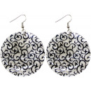 wholesale Earrings: Earrings couple tendril motif Ø 50 mm