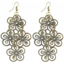 wholesale Jewelry & Watches: Pair of earrings, metal jewelry flowers , L. 75 m