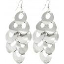 wholesale Jewelry & Watches: Pair of earrings, metal jewelry, shiny, L. 90 mm