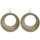 Paire de boucles  d'oreilles, bijoux de métal,