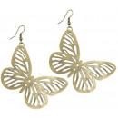 wholesale Rings: Ohrringpaar Butterflies , Width: 60 mm