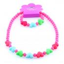 Kinderschmuck-Set Herzen , Halskette und Armband