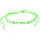 groothandel Sieraden & horloges: Armband, stof m.  Decoratieve ballen, groen