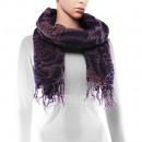 Großhandel Tücher & Schals: Schal, Winterkollektion, Farbe: dunkelblau