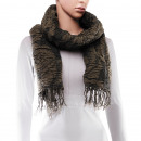Scarf, winter collection, color: army