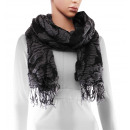 Scarf, winter collection, color: black / white