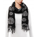 Scarf, winter collection, color: black / gray