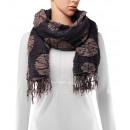 Großhandel Tücher & Schals: Schal, Winterkollektion, Farbe: dark