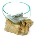 Liqva - Teakholz mit Glasschale