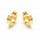 ingrosso Gioielli & Orologi: Creoli in acciaio  inossidabile, color oro