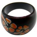 groothandel Sieraden & horloges: Gesorteerd ring  van hout  bloemen , maten