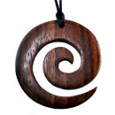 wholesale Jewelry & Watches: Necklace pendant wood spiral , Ø 35 mm