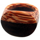 groothandel Sieraden & horloges: Gesorteerd ring  Sonoholz u. Coconut hout, maten