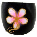 Großhandel Ringe: Ring aus Sonoholz mit Blüte, Größen sortiert