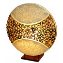 Lamp made of bamboo rings and Capiz Shell