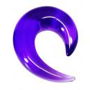 grossiste Piercing / Tatouage: Allongement spirale plastique, Ø 4 mm violet