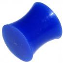 Großhandel Piercing / Tattoo: Ear Plug Silikon, blau, Ø 12 mm