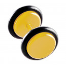 Fake Plugs, Ohrstecker, Ø 10 mm, gelb