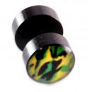 Fake Plugs, Ohrstecker, Ø 8 mm, beidseitig bunt
