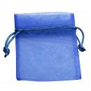 Organza bag, 6-pack, 7 x 10 cm, navy blue
