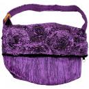 Großhandel Handtaschen: Schultertasche, 30 x 28 cm, Farbe: violett