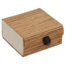 Bamboo box, width: 7 cm, height: 3.7 cm