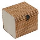 wholesale Decoration: Bamboo box, width: 8.5 cm, height: 8 cm