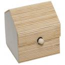 Bamboo box, width: 7.5 cm, height: 9 cm