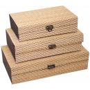Skrzynki Bamboo zestaw 3, Szerokość: 25, 21 i 18 c