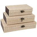 Bambus-Boxen 3er-Set, Breite: 25, 21 u. 18 cm