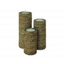 Bamboo vela Conjunto de 3, 16, 21 y 25 cm