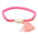 grossiste Bijoux & Montres:Bracelet, coquille, rose