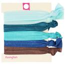 Hair Ties, Zopfgummis, 6 pieces, color: turquoise