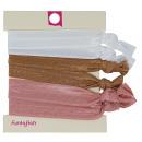 Hair Ties, Zopfgummis, 6 pieces, color: pink