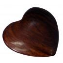 Herz mittel, ca. 6 cm, aus Shisham Holz