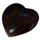 Herz groß, ca. 10,5 cm, aus Shisham Holz