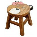wholesale Children's Furniture: Children's stool Teddy with bow , height: 25