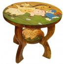 Großhandel Kindermöbel: Kindertisch Tiere auf Wiese , Höhe: 43 cm, Ø 50 c