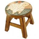 wholesale Children's Furniture: Kids stool Sheep on meadow , H: 25 cm, Ø 25 cm