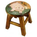wholesale Children's Furniture: Kids stool pig on meadow , H: 25 cm, Ø 25cm