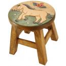 Großhandel Kindermöbel: Kinderhocker   Pferd auf Wiese , H: 25 cm, Ø 25 cm