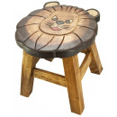 wholesale Children's Furniture: Kids stool lion Height: 26 cm, Ø 25 cm