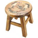 wholesale Children's Furniture: Kids stool elephant girl H: 26 cm, Ø 25cm