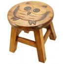 wholesale Children's Furniture: Kids stool owl Height: 26 cm, Ø 25 cm