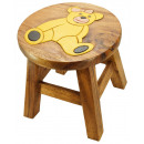 Großhandel Kindermöbel: Kinderhocker   Teddybär  Höhe: 26 cm, Ø 25 cm