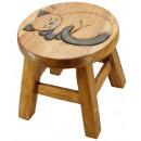 wholesale Children's Furniture: Kids stool Cat Height: 26 cm, Ø 25 cm