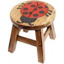 wholesale Children's Furniture: Kids stool Ladybug Height: 26 cm, Ø 25 cm